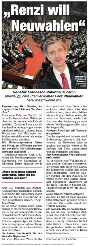 Neue Südtiroler Tageszeitung 20140725