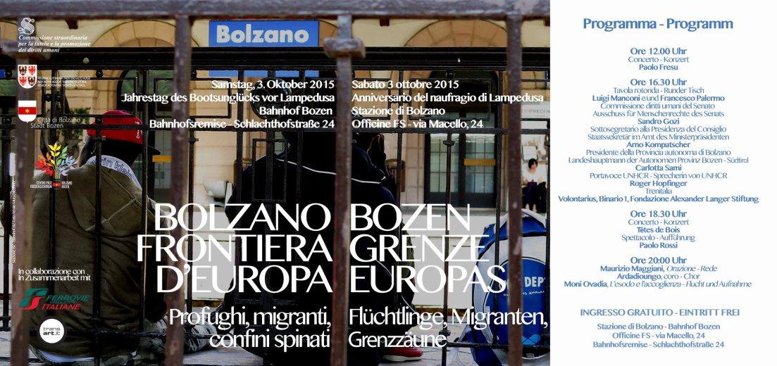 Locandina 3 ottobre Bolzano